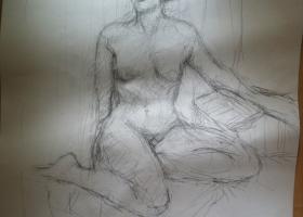 Life Drawing 12-08-2013