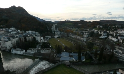 Lourde, Rosary Basilica and the Pyrenees